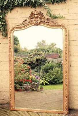 Large French Gilt Mirror 19th Century