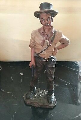 "Tall Cowboy, Ranch Hand, Western Decor Figurine, Statue, 16.5"" Resin."