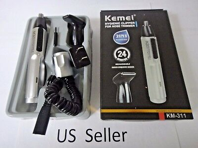 2 in 1 Electric Nose Ear Hair Trimmer Epilator men shaver clipper Rechargeable