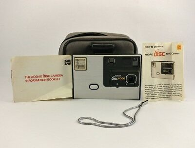 Kodak Vintage Disc 4000 Disc Camera Photography Photo with instructions and case