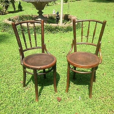 Set 2 Antique Bentwood Parlor Chairs Mundus U0026 JJ Kohn C1920. Cafe Thonet  Style.