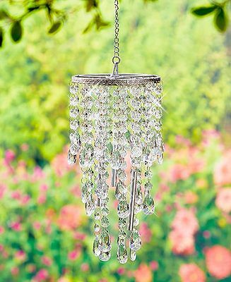 Crystal Clear Chandelier Wind Chime Windchime Patio Deck Tree Outdoor Home Decor