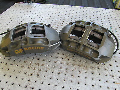 Nascar Ap 4 Piston Rear Calipers 5880-102/103 Short Track Road Course Pads Mnts