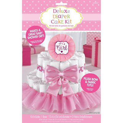 Pink Its a Girl Diaper Cake Decorating Kit