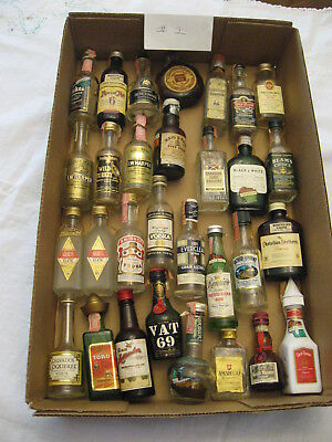 HUGE Lot of 30 Vintage Miniature Glass Liquor Bottles Whiskey and Others! #2