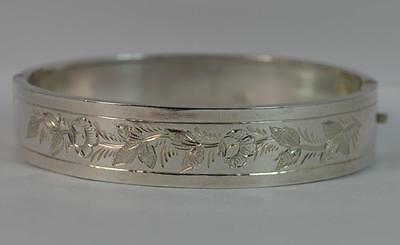 1884 Victorian Aesthetic Movement Silver Bangle