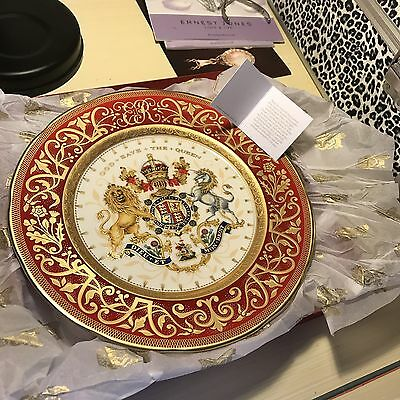 Bone China Commemorative Royal Plate 22k gold gilded