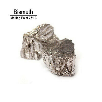 100g 99.99% Pure Bismuth Metal Metalloid Element 83 with label
