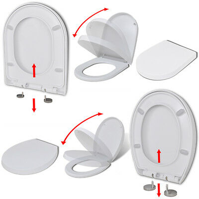 Luxury Quick-release Soft-close Toilet Seat White Fixing Hinges 2 Models