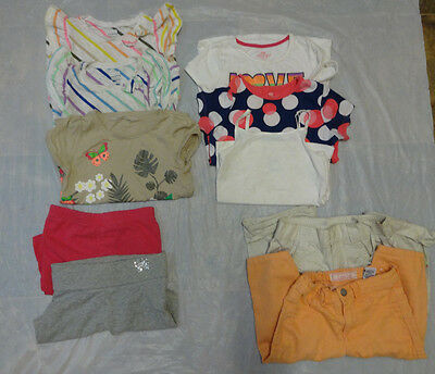 Girl's Used Small Summer Shirts & Shorts Small Lot  Size 4