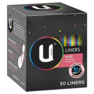 U by Kotex Liners Nude 30 Liners for daily freshness or back up protection