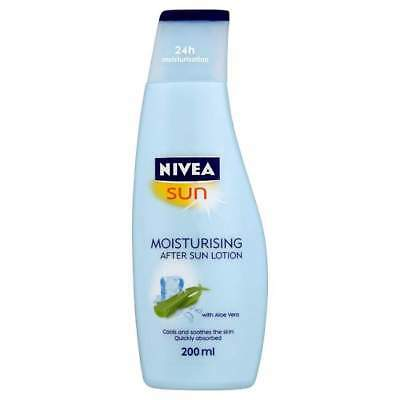 Nivea Sun Moisturising After Sun Lotion 200ML Soothing Prevent Skin From Ageing
