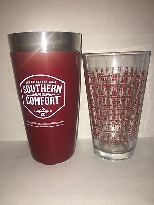 Southern Comfort Cocktail Shaker and Glass Set