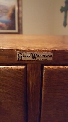 1940's Globe Wernicke index card  filing cabinet. Repurposed into a jewelry box