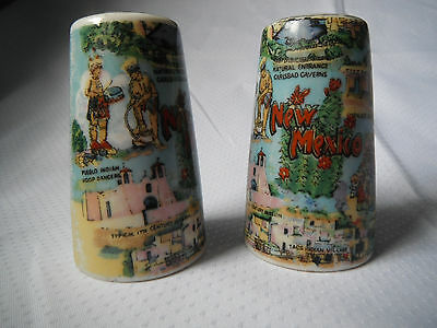 Vintage New Mexico Set Salt Pepper Shakers Souvenir Thrifco Japan FREE SHIP USA
