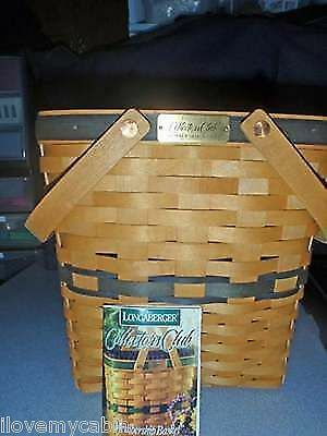 Longaberger Collector's Club Membership Basket With Brass Tag