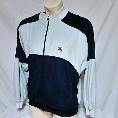 Original Late 70's 80's Settanta Fila Bjorn Borg Blue Jacket Men Size USA 38
