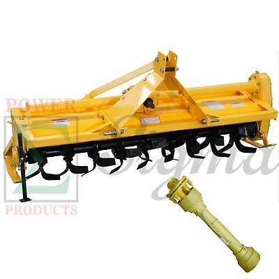 """72"""" ROTARY TILLER - 3 Point Hitch Mounted - PTO Driven-6FT With SHAFT"""