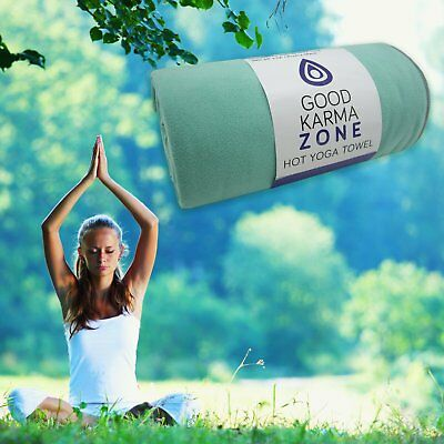HOT YOGA TOWEL - Non-Slip Microfibre w/ Bag Pilates Fitness Workout Meditation
