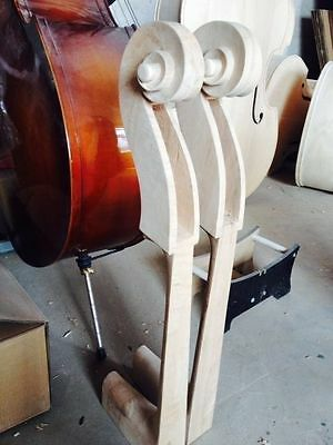 One piece of Nice dbl bass scroll 3/4 maple 3/4 double bass neck