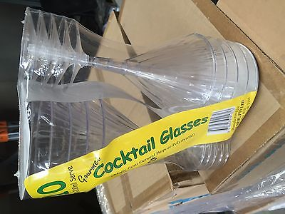 Plastic Martini Glasses - box of 100 units