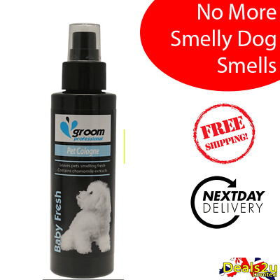 Groom Professional Baby Pet Cologne Talc Fresh - Smelly Puppy & Dog Spray 100ml