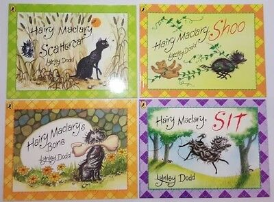 NEW 4 x Hairy Maclary-Kids Books -Shoo, Sit,  Bone,  Scattercat,  FREE-POST