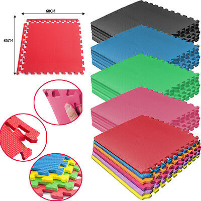 Eva Foam Mats Tiles Interlocking Gym Office Floor Home Nursery Yoga 60 X 60Cm