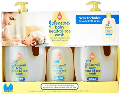 Johnsons Baby Head-to-Toe Wash Gentle and Cleanses 2 - 33.8 fl. oz.1 - 9 fl. oz.