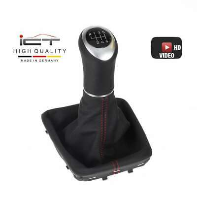 For Volvo C30 06-13 Shift Boot Leather with Plastic Frame