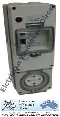 5 pin 20A Protected Combination Outlet IP66 Weatherproof Switchboard Caravan