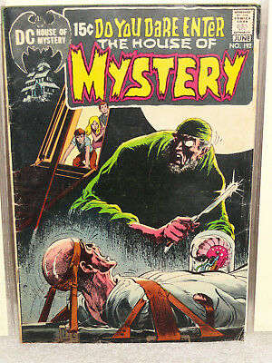 Bronze Age DC HOUSE OF MYSTERY (VOL 1) # 192 NEAL ADAMS CLASSIC COVER VG 1971