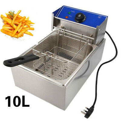 10L 2.5KW Stainless Steel Commercial Single Tank Electric Deep Chip Fat Fryer UK