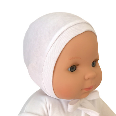 *Newborn 0-3  3-6 Months* VELOUR BABY BOY GIRL HATS WITH TIES 100% Velour Cotton