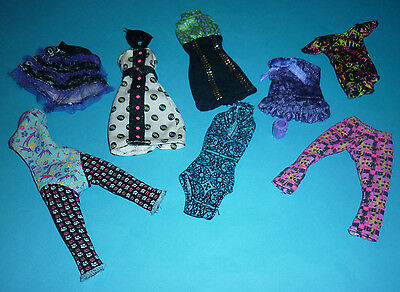 Assorted Monster High Doll Clothes & Accessory for Play/OOAK