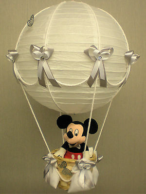 MICKEY MOUSE in hot Air Balloon Lamp-light Shade for Baby Nursery