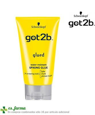Schwarzkopf Got2B Glued Styling Spiking Glue Water Resistant Gel Fijación 150Ml
