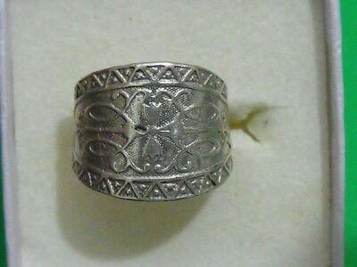 Vintage Sterling silver original ring classic 6 FINE ethnic jewelry (ZV)