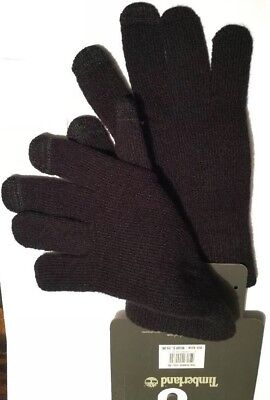 Timberland Magic Gloves Tech Touch Screen Men's Black Unisex One Size NEW