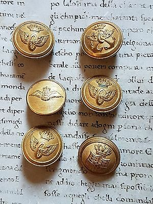 RARE ANCIENT LOT BUTTONS : early 1900's Sweden Stockholm Royal Crown !!!