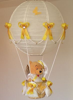 WINNIE THE POOH in Hot Air Balloon Lamp-Light Shade decorative nursery gift