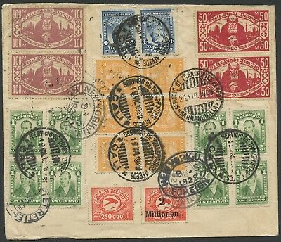 Colombia SCADTA 1929 Cali - South Africa | Registered Cover via Danzig & NY