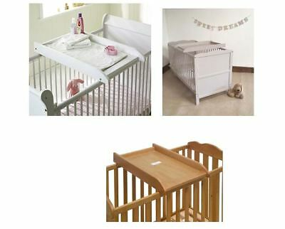 Saplings Cot Bed Top Baby Changer Nappy Clothing  White Grey Country