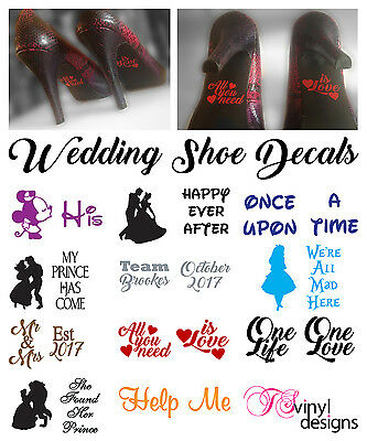 Wedding Shoe Decal sticker vinyl