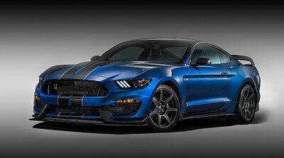2016 FORD MUSTANG SHELBY GT350 COBRA CAR POSTER PRINT STYLE B 42x76 9 MIL PAPER