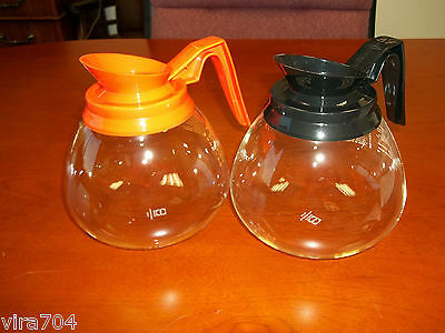 2 Pack -12 Cup Commercial Coffee Pots/Carafes/Decanters for Bunn-Regular & Decaf