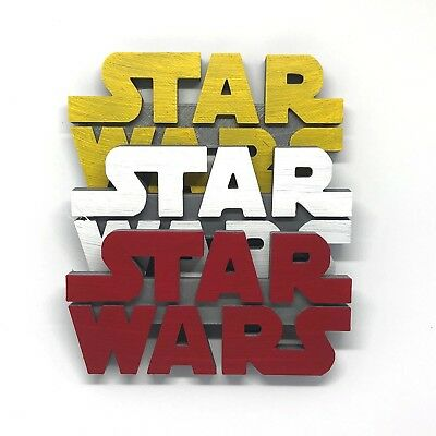 Star Wars Logo Shelf Display - Original, The Force Awakens, The Last Jedi, Etc