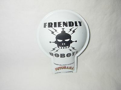 Vintage Futurama Friendly Robot Rocket Usa Metal Clicker Toy New