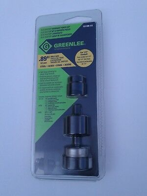 "Greenlee 7211BB-1/2 Slug Buster Knock out Punch Set 1/2"" conduit .89"" Free Ship!"