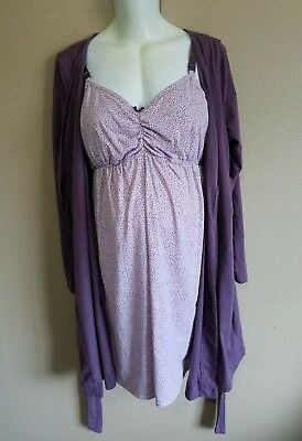 Baby Bump Maternity Nursing Gown & Nursing Night Gown Size Large